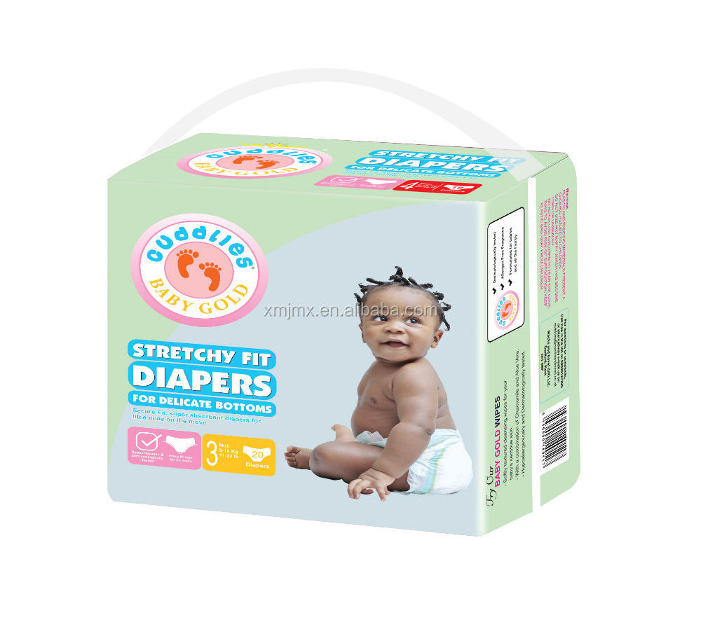 Cheap disposable Congo baby nappies baby diaper adult diaper