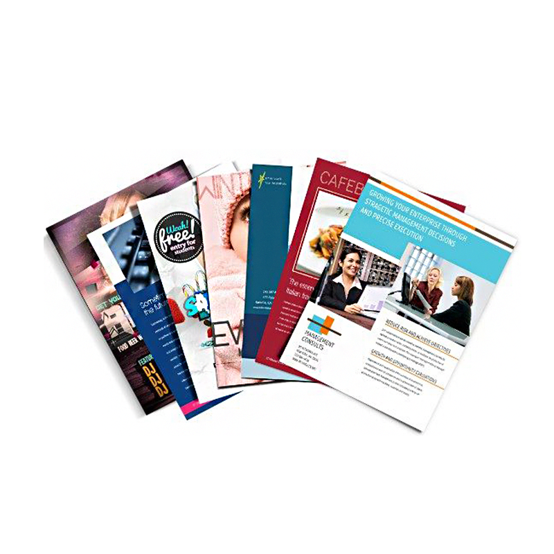 Hot selling OEM Advertising Flyers/Brochure/Magazine/Leaflet/Booklet/Catalogue Custom Printing Service