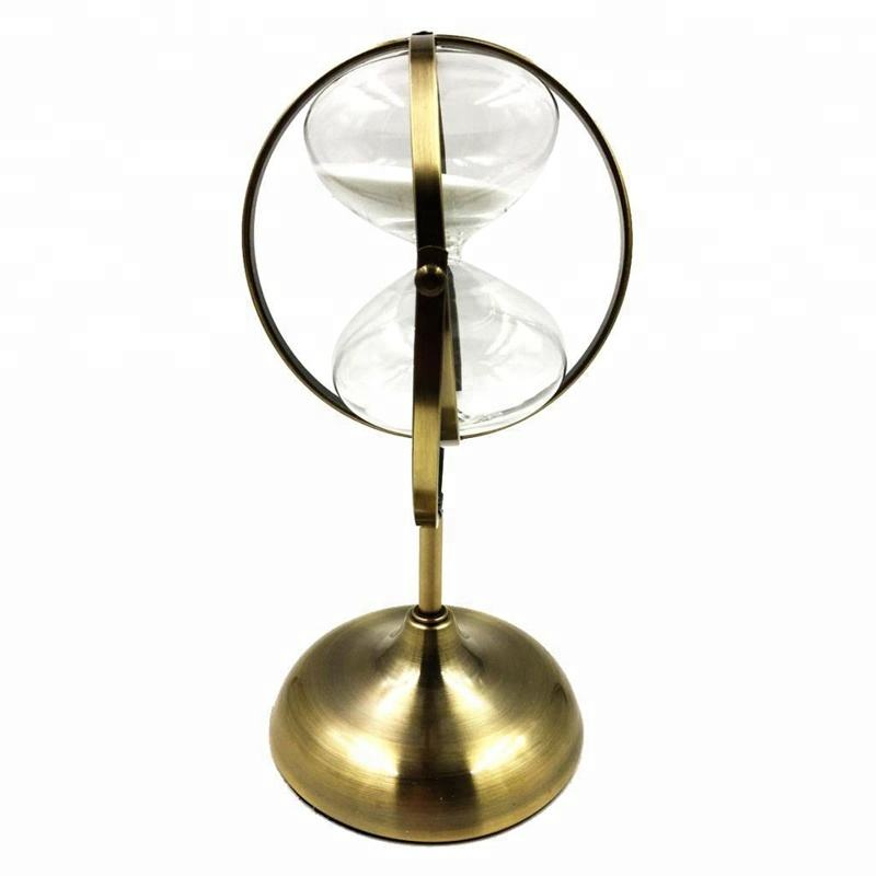 15 Minutes Globe Metal Hourglass Retro Sandglass Sand Timer Clock Home Office Decoration Gift