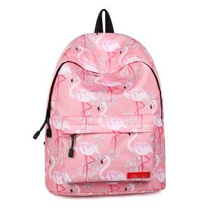 Best Polyester Waterproof animal Custom Backpacks Printed LOGO Cute Girl Lady School Kid Flamingo Backpack