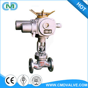 S-pattern DN50 WCB PN100 Electric Actuator Globe valve for flow control