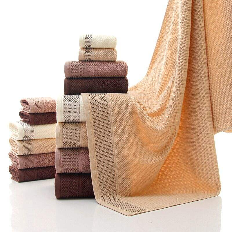 China wholesale 100% Cotton 3 Piece Hand Face Bath Towel Set