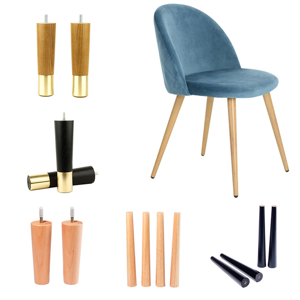 wholesale new design colorful wood stool legs chair legs ,wooden chair stool legs for furniture