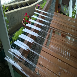 High Strength Cost Effective Clear Plastic Polycarbonate / PC Corrugated Transparent Roofing Sheet for shed