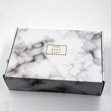Corrugated marble colored printing boxes tuck mailer set top box packaging and shipping carton wholesale