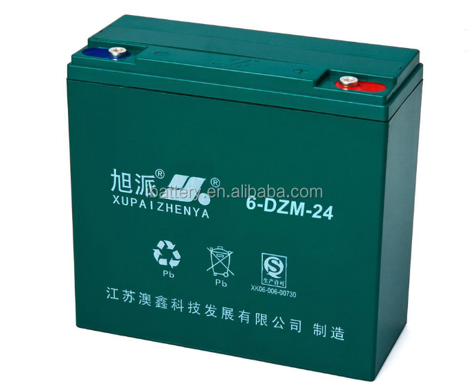 Marca XUPAI 6-DZM-24 12v 24ah Batterie Bici Elettrica Della <span class=keywords><strong>Batteria</strong></span> 12v 24ah Made in China
