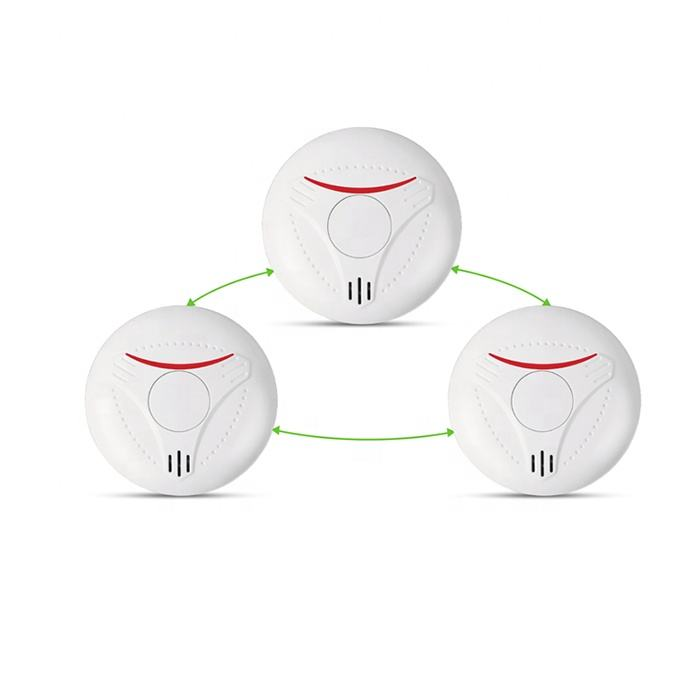 CE EN approval 10 years battery interconnected wireless smoke detector