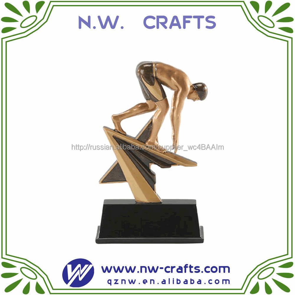 Горячая распродажа спортивные награды смолы дешевые кубок трофеи