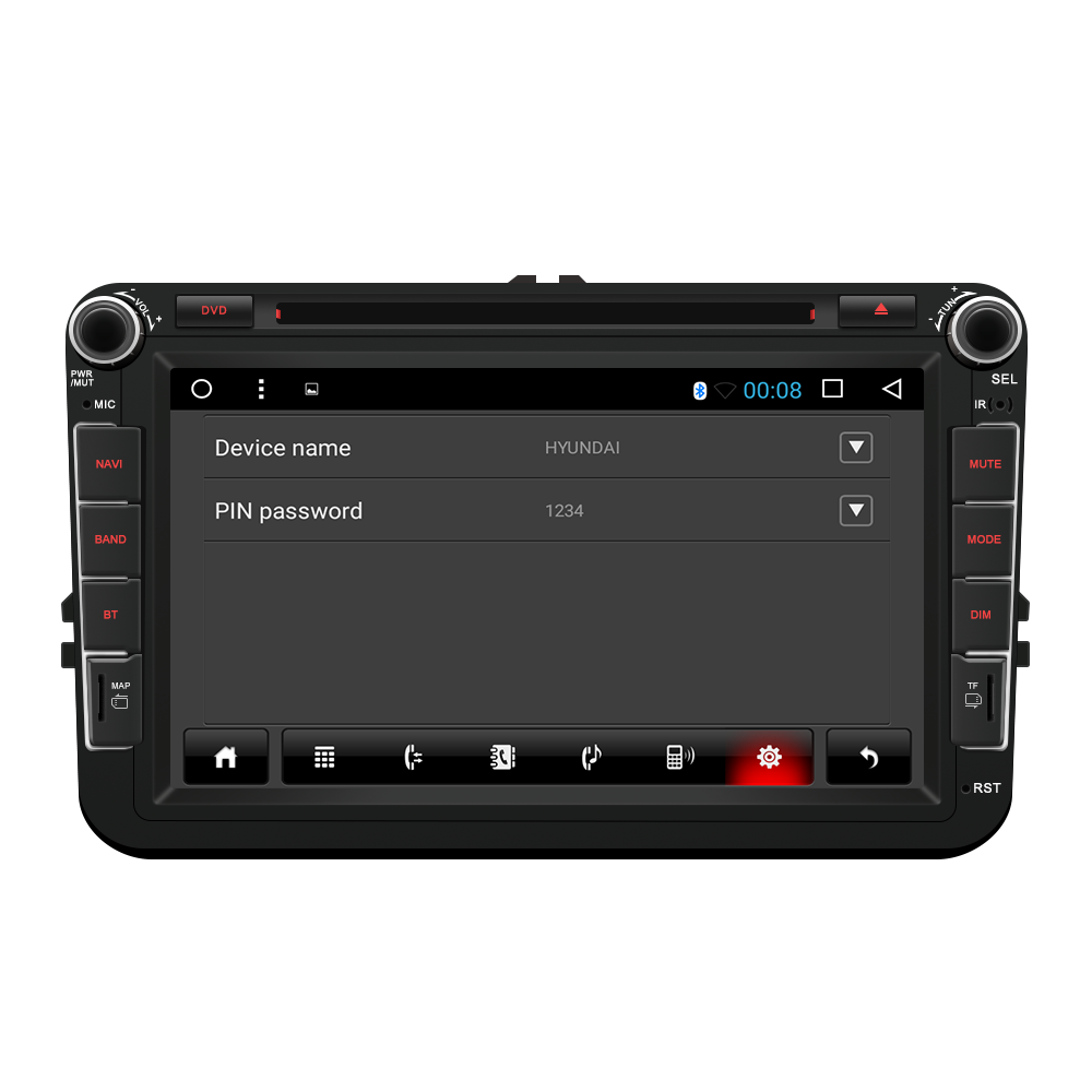 "Android 7,1 2 Din 8 ""Auto DVD Player GPS NAVI Für VW"