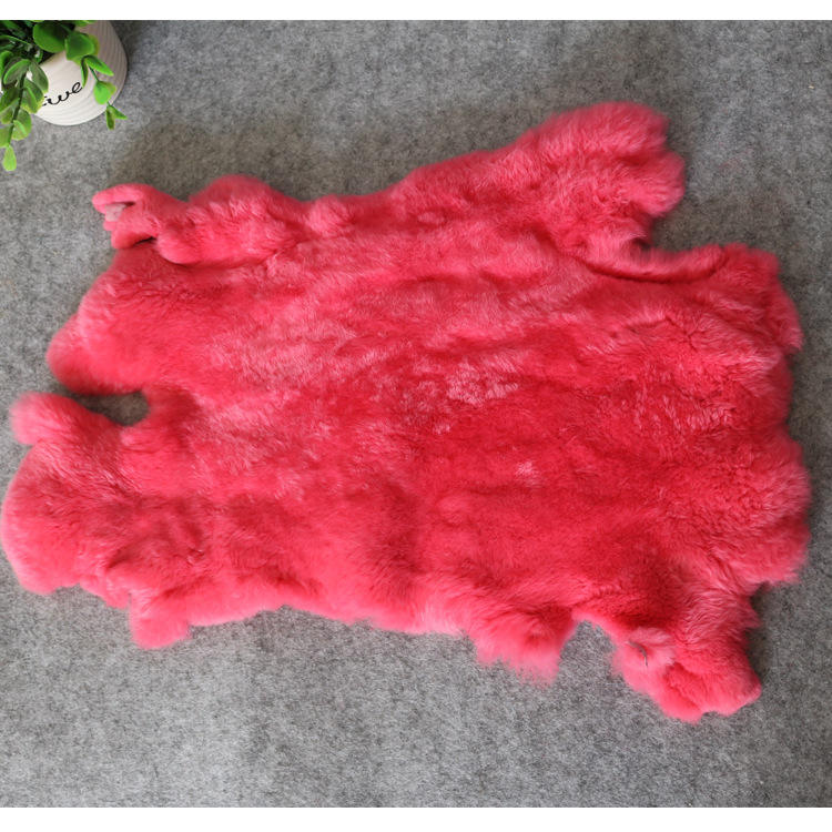 Natural color finished genuine rabbit skins fur pelt