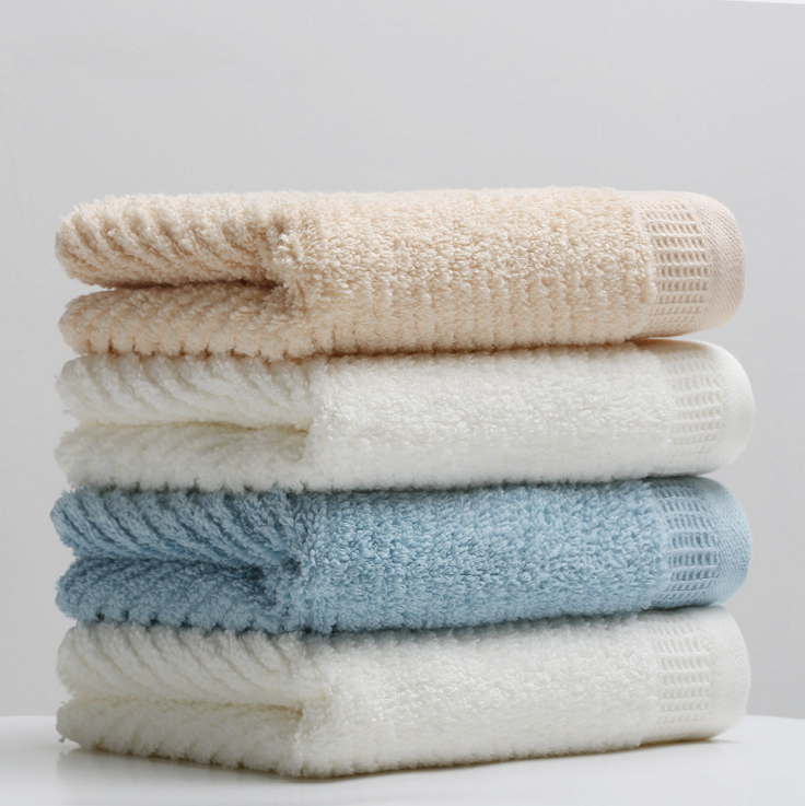 Cotton terry towel egyptian Cotton Fiber Jacquard Face / Bath Towels Classical Design for Luxury Home Use
