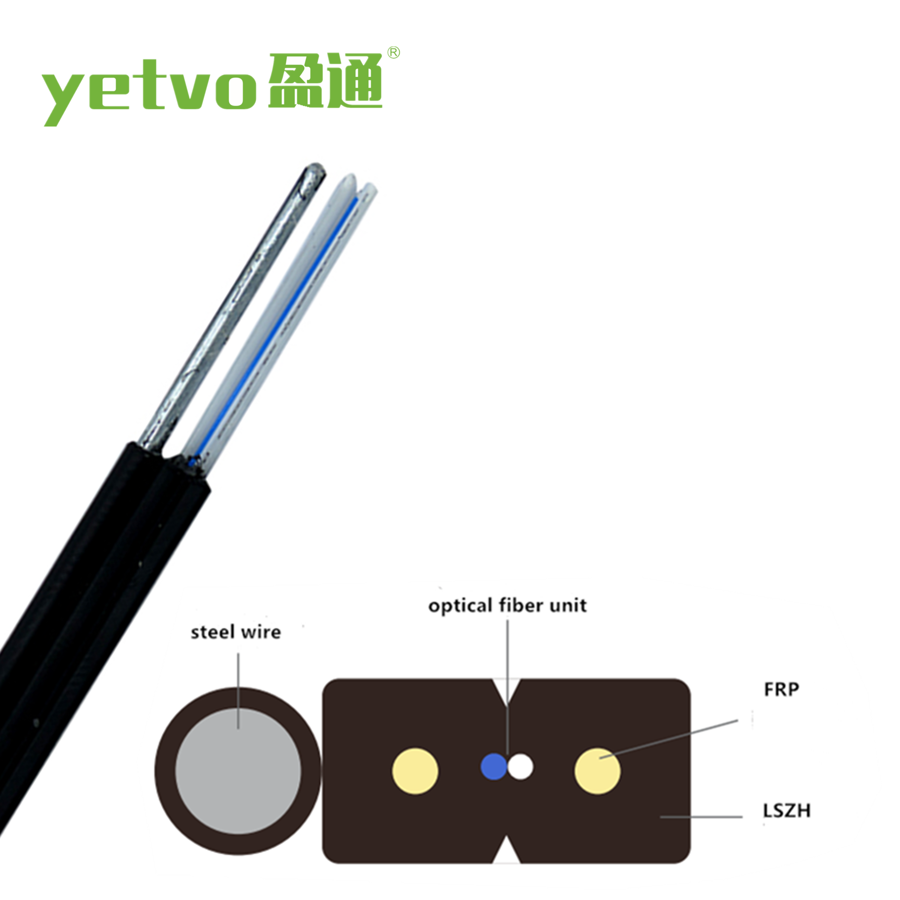 GJYXFCH 12 8 6 4 2 core single-mode self-supporting FTTH drop fiber optic cable optical cable