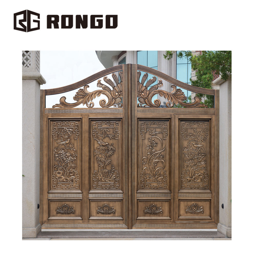 RONGO beautiful high quality granite gate pillar design for sale
