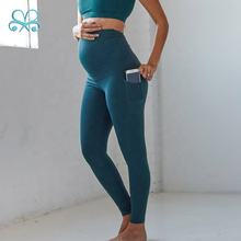Top quality gym yoga comfortable soft mommy maternity leggings