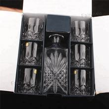 Bohemia Cut Press Black Label Whisky Bottle Whisky Glass Gift Sets