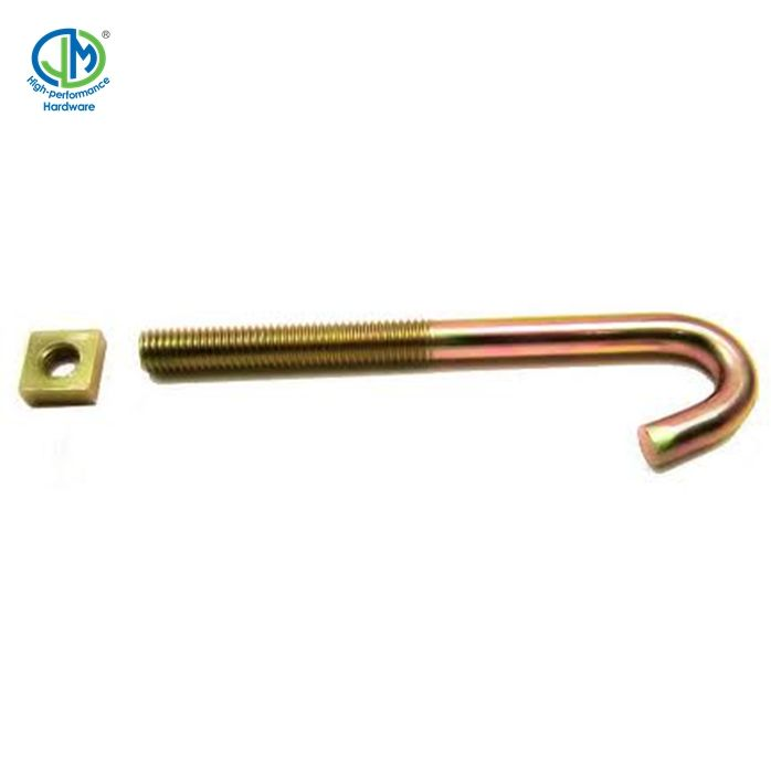Perno anclaje m30 Zinc Plated carbon steel L Type Shape Hook Anchor bolt