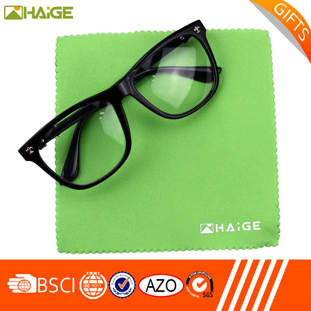 Personalizzato stampato in microfibra per la pulizia occhiali panno borsa Migliore prezzo di alta qualità
