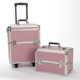 OEM Aluminum makeup vanity trolley beauty multi layer cosmetic travel box PU surface aluminum trolley case