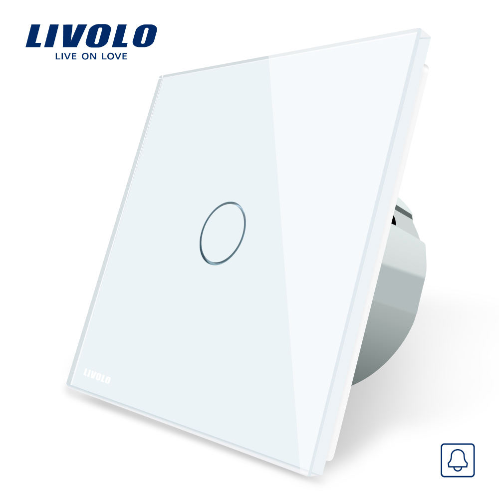 VL-C7 LIVOLO dimmer led 12v \/24 v interruptor do hotel campainha toque de vidro