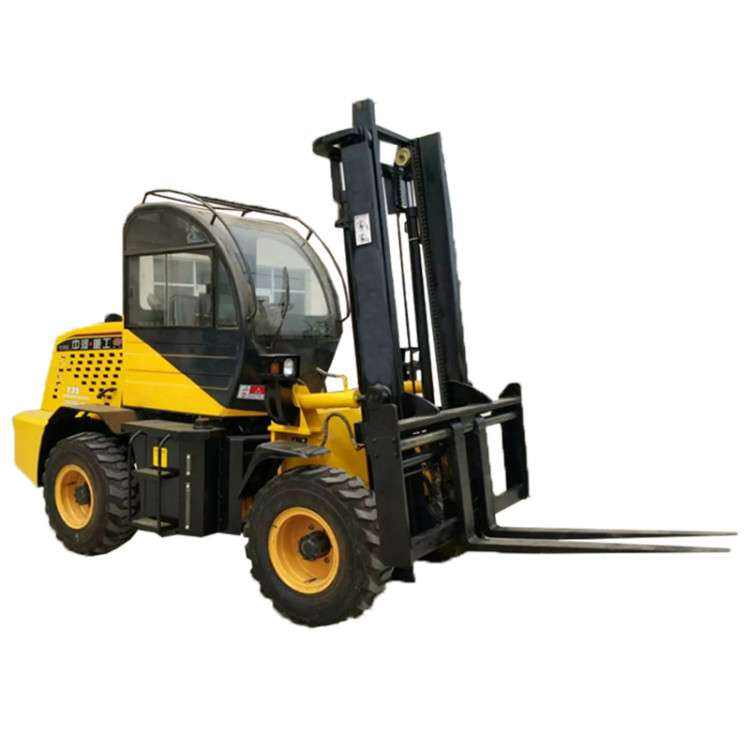 3 tons All Terrain Forklift muddy road Sand road Four drive Forklift
