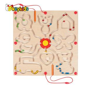 Most popular educational wooden labyrinth board game for children W11H065