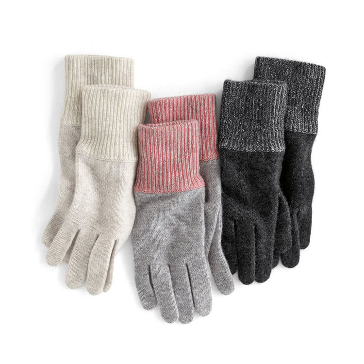 100% Silk Knt Snow Mitten Gloves Set
