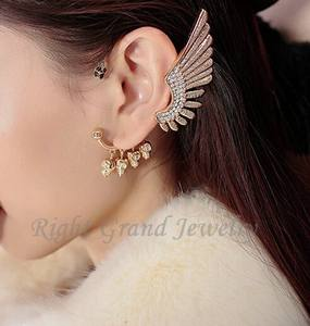 Gold Ear Cuff Cartilage Earrings Skull Ear Cuff For Women