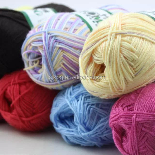 natural soft bamboo cotton yarn
