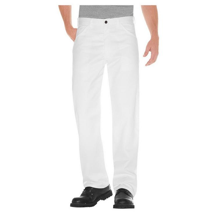 Hot Sale Polyester / Cotton White Painter Pants