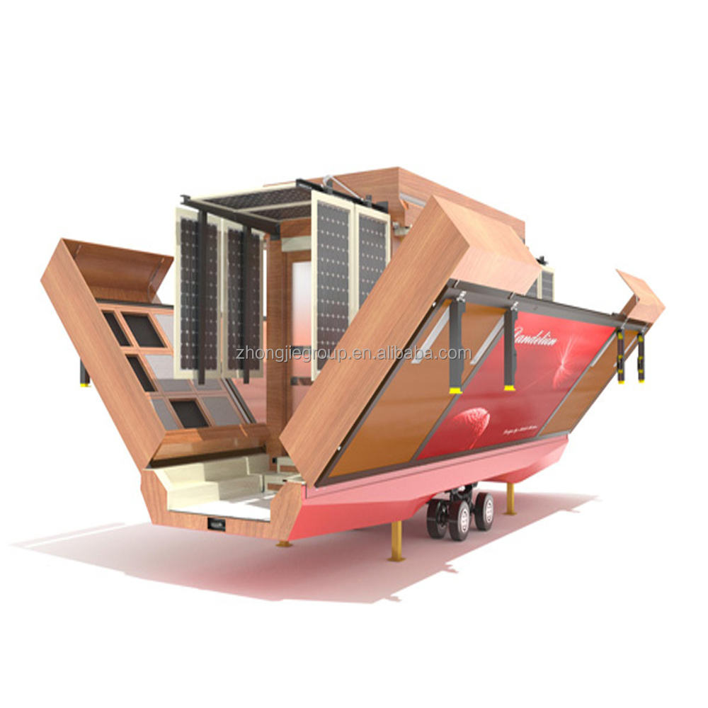 movable cheap expandable container house for double sides open