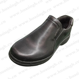 XLY, indoor cleanroom design white safety Shoes no lace shoes for food/chemical/kitchen/restaurant industry HSW029