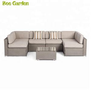 Beegarden Linhai Beautyhouse Patio Furniture Anyaman Rotan Outdoor Desainer Set