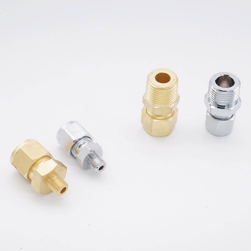 Tipo swagelok latão compression fittings 1/8
