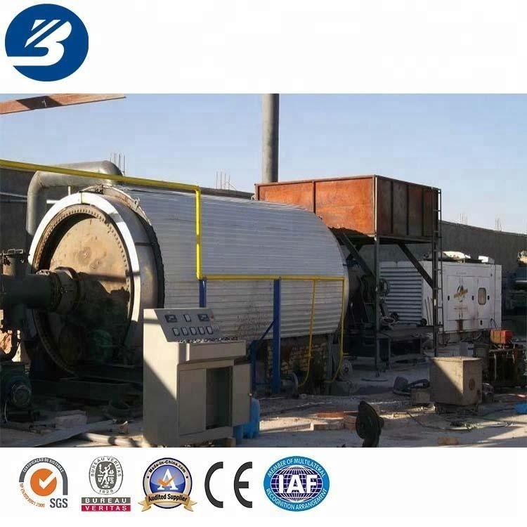 Batch type 10 tons tire rubber plastic waste pyrolysis to diesel reactors