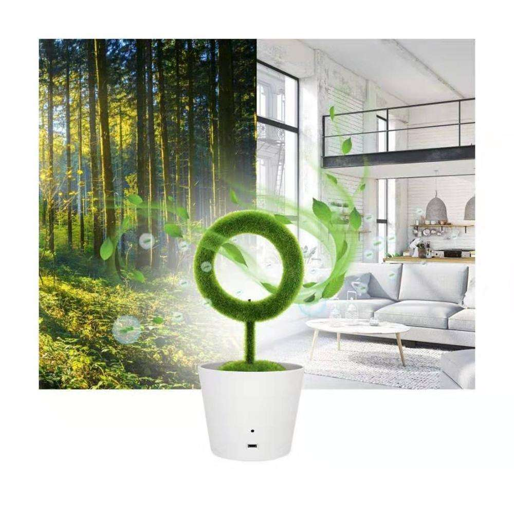 Innovative Corporate Gifts Item for 2020 Ionkini JO-732 Artificial Plant Air Purifier