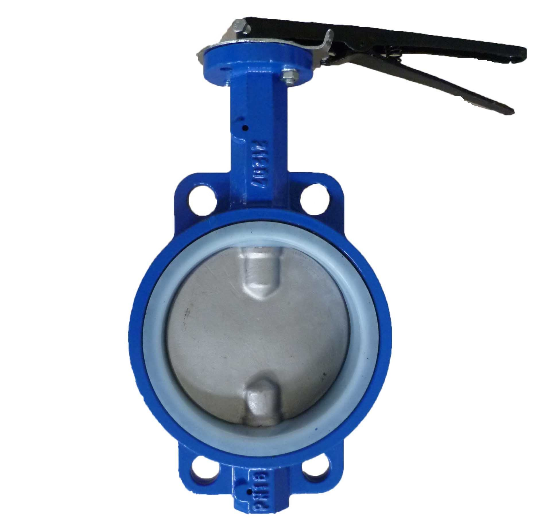 Cast iron ductile iron WCB SS304 SS316 C954 AL Bronze Al alloy double stem shaft wafer butterfly valve