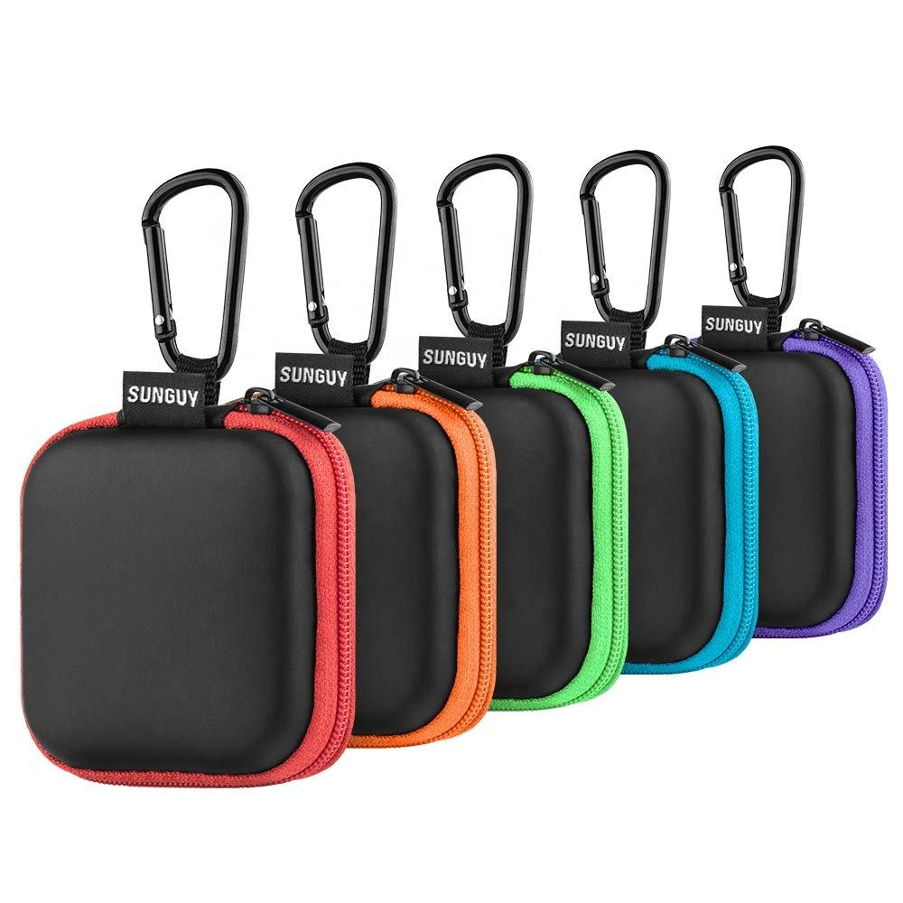 EVA earphone case, Earbuds Carrying Case, Portable Small Shape Hard Case EVA Storage Bag for Bluetooth Headset