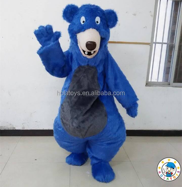 Популярные Медведь Балу взрослый костюм/взрослый костюм медведя Балу для продажи