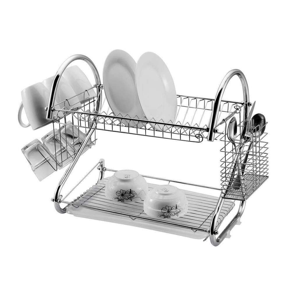 Kitchen Eco friendly House Type pull down drain stainless steel metal wire dish drying rack for cup bowl drainer