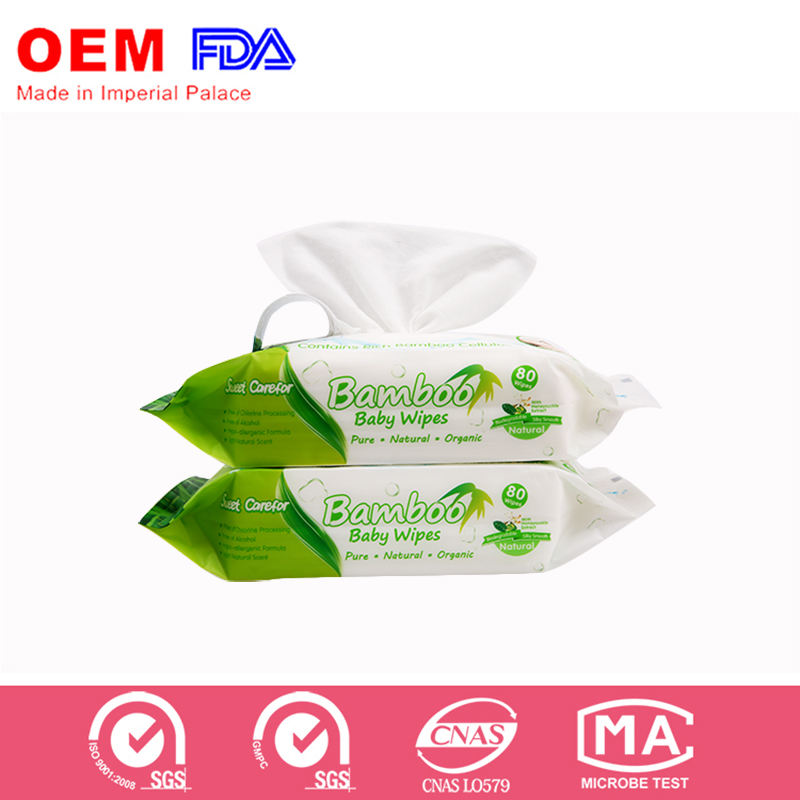 portable soft flushable cleaning travel bamboo wet wipes