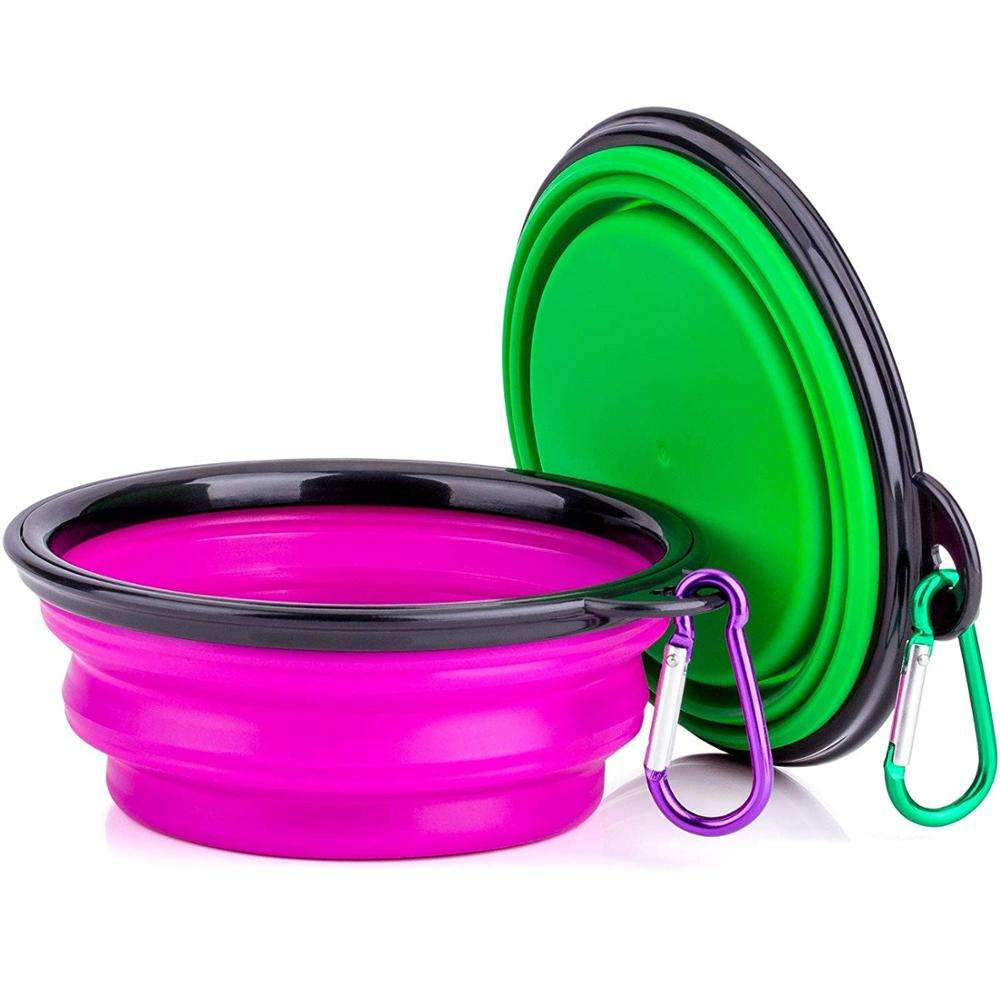 OEM ODM Colorful Foldable Collapsible Silicone Pet Travel Bowl