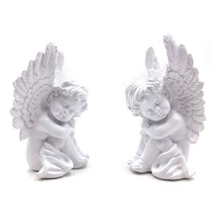 China Custom Polyresin Slapen Angel Beeldje Graf Decoratie