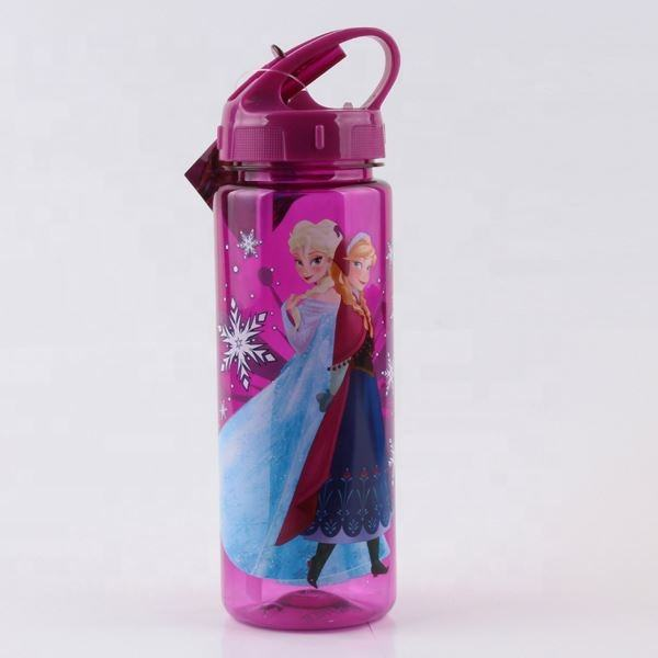 New 100% Food Grade BPA Free Plastic Kids Water Bottle with Straw