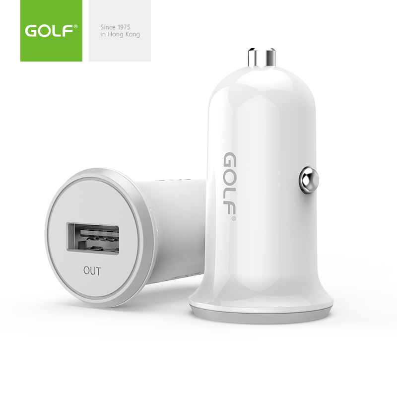 GOLF Cheap Single USB 1.0A Promotional Gift Car Charger