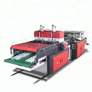 Two lines hot cutting Plastic bag making machine Price shopping bag machine