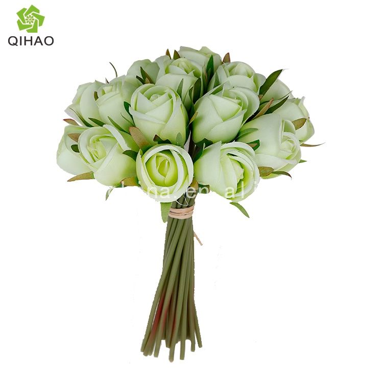 18 Heads Artificial Silk Rose Flower Bouquet Wholesale for Wedding Decoration
