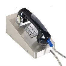 Desk Mounted Vandal-proof SIP/VoIP Telephone for Heavy Duty Industry, Stainless Steel Rugged Prison Phone