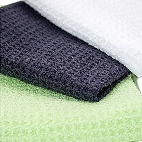 Microfiber Deep Waffle Weave Golf Towels with Free Golf Balls Towel