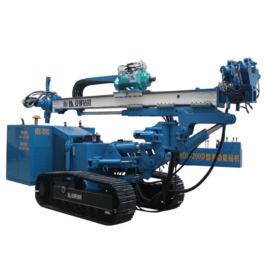 Moveable Type Anchoring Drill Machine Top Drive Head Portable Drilling Rig