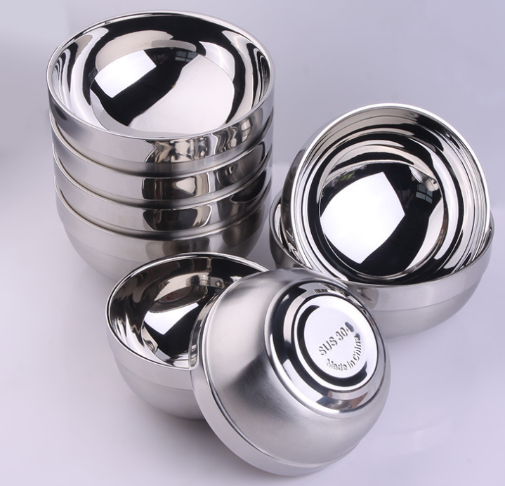 Food grade stainless steel SUS304 dish different size bowl